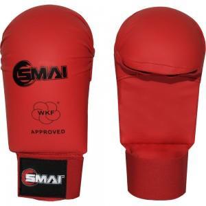 Karate rokavice, brez prsta, SMAI, WKF approved, rdeče