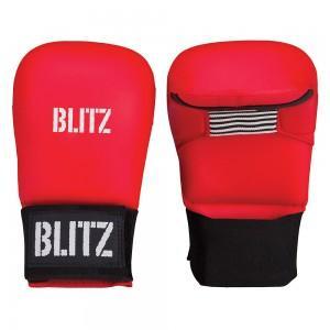 Rokavice karate brez prsta PU-Elite rdeče